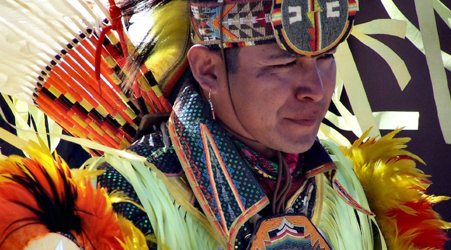 Young Hualapai Indian Man in Full Ceremonial Dress