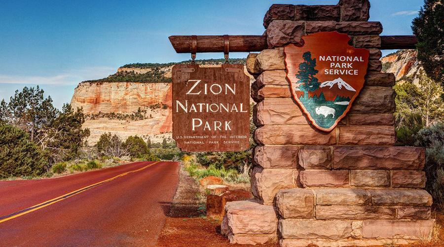 Zion National Park Service Sign