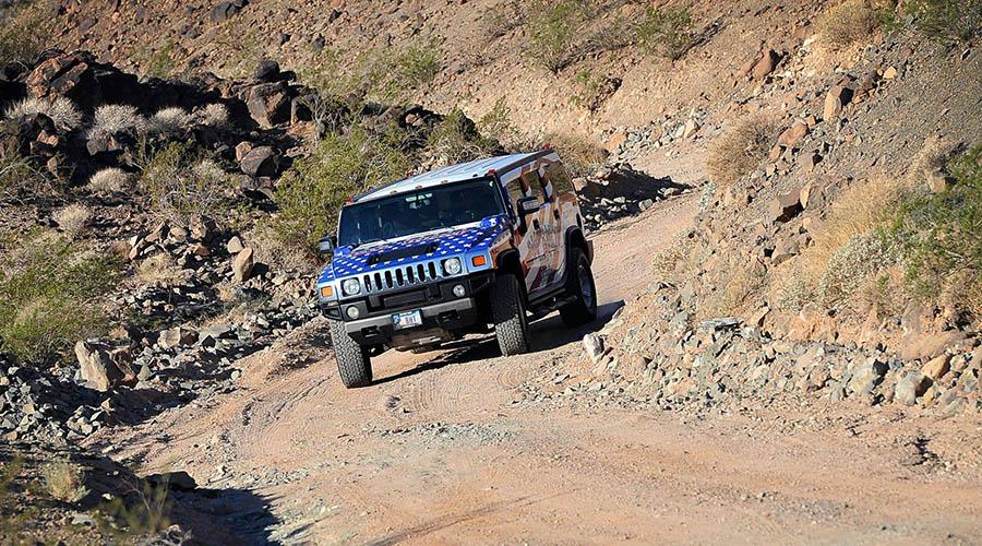 Big Horn Hummer off road in Death Valley