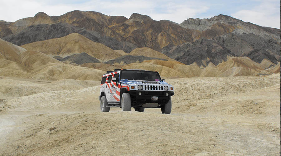 Off Road Hummer at Death Valley