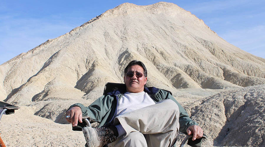Relaxing at Death Valley