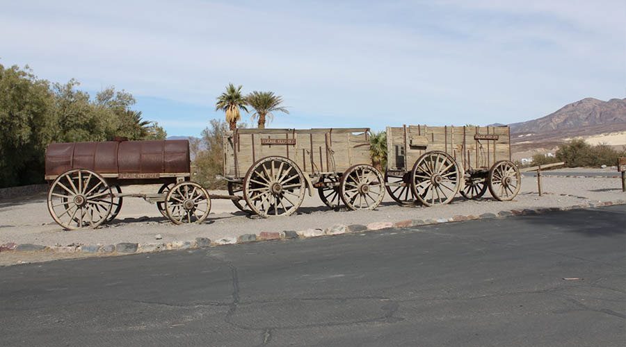 Vintage Mining equipment at Death Valley