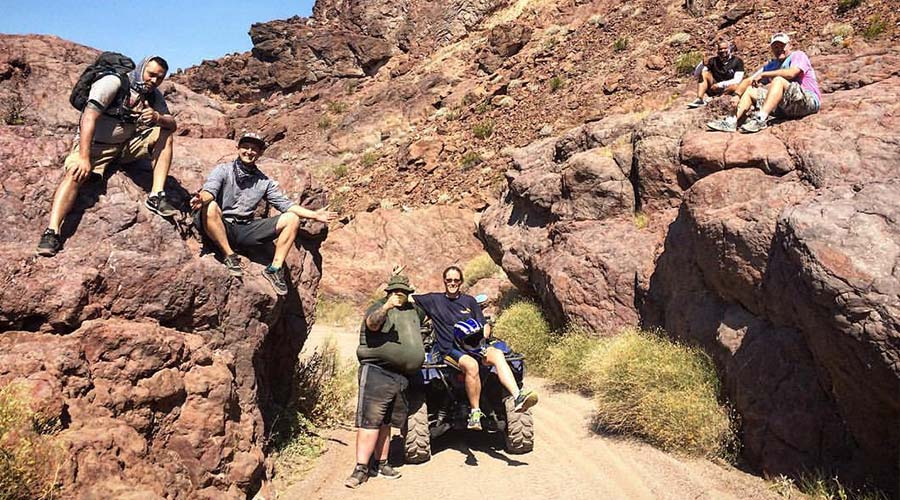 ATV Group Relaxing at Lake Mead National Park