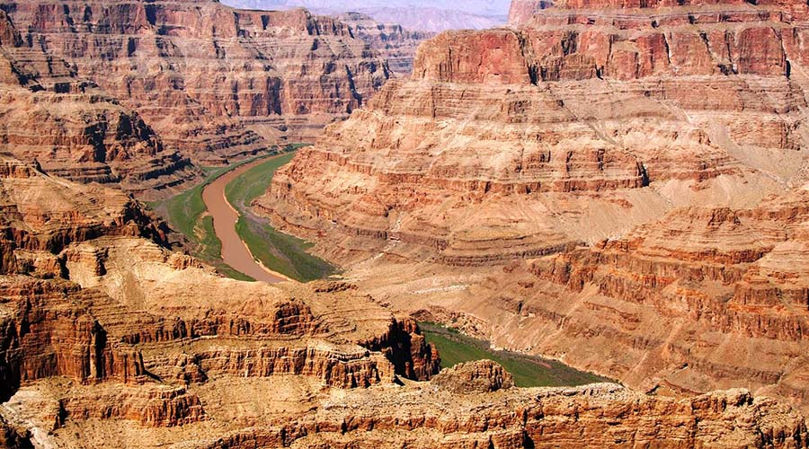 Grand Canyon and Colorado River Landing Site Aerial View