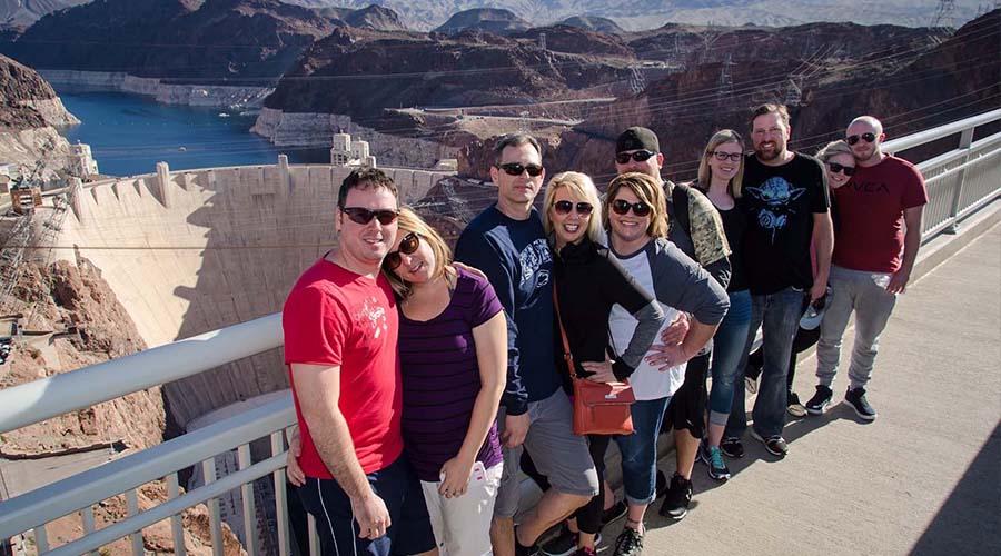 Group Posing at Mike O'Callaghan–Pat Tillman Memorial Bridge