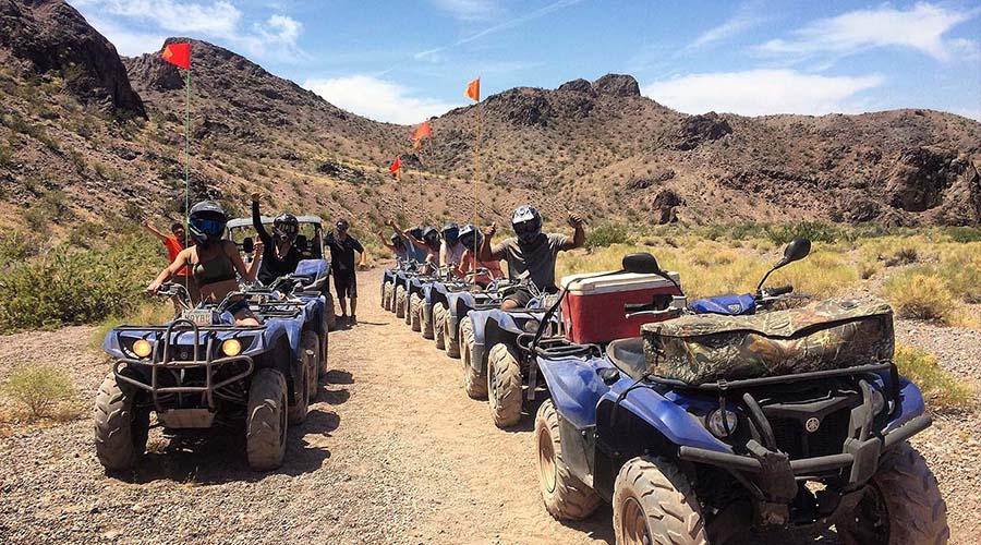 Guided ATVs in Formation at Lake Mead National Park