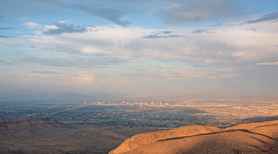 Las Vegas Valley from Red Rock Canyon