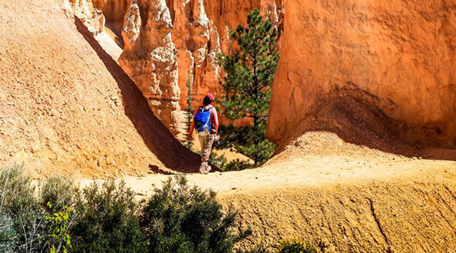Hiker at Bryce Canyon