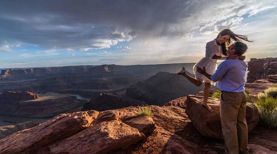 Man and Child at Grand Canyon West
