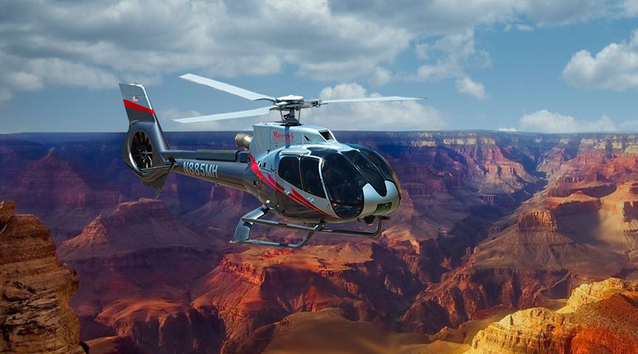 Maverick Helicopter Soaring over Grand Canyon