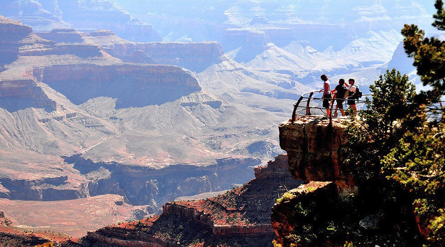 Scenic View of Grand Canyon South Rim Lookout