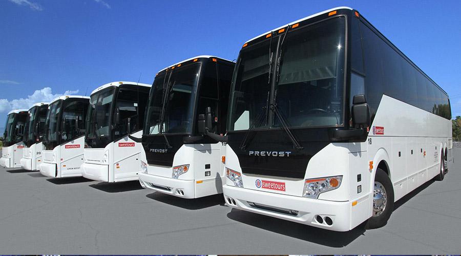 Sweetours fleet of Luxury Motor-coaches